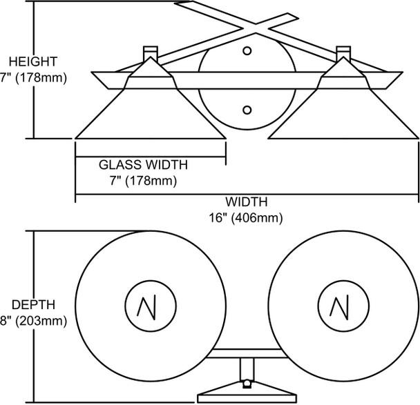 ELK Lighting Refraction 2-Light Vanity Light - 1471/2CAR