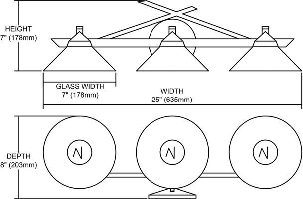 ELK Lighting Refraction 3-Light Vanity Light - 1472/3CAR