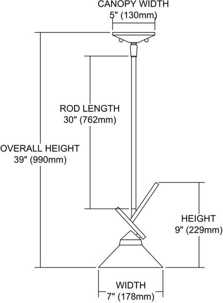 ELK Lighting Refraction 1-Light Mini Pendant - 1474/1CRW