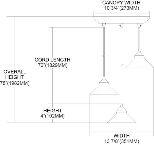 ELK Lighting Refraction 3-Light Mini Pendant - 1477/3