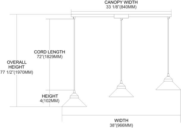 ELK Lighting Refraction 3-Light Mini Pendant - 1477/3L-JAS