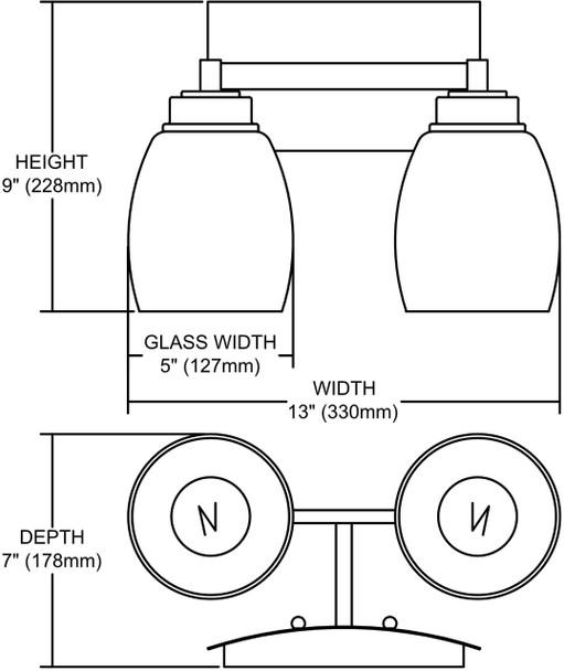 ELK Lighting Northport 2-Light Vanity Light - 17101/2
