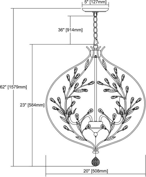 ELK Lighting Circeo 5-Light Chandelier - 18136/5