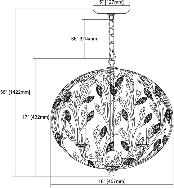 ELK Lighting Trella 5-Light Chandelier - 18185/5