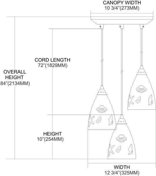 ELK Lighting Seashore 3-Light Mini Pendant - 20000/3