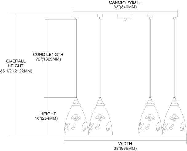 ELK Lighting Seashore 6-Light Pendant - 20000/6