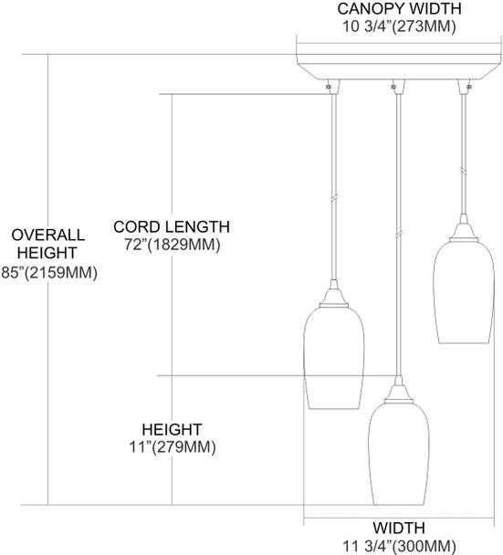 ELK Lighting Sandstone 3-Light Mini Pendant - 31137/3