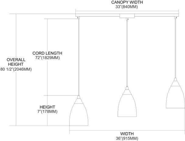 ELK Lighting Classico 3-Light Mini Pendant - 406-3L-ES