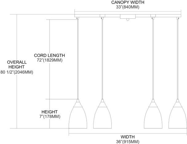 ELK Lighting Classico 6-Light Pendant - 406-6BL