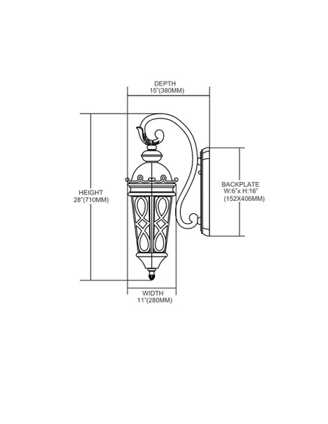 ELK Lighting Burlington Junction 3-Light Sconce - 42002/3