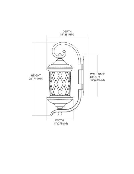 ELK Lighting Barrington Gate 3-Light Sconce - 42032/3