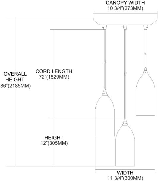 ELK Lighting Verona 3-Light Pendant - 502-3ES