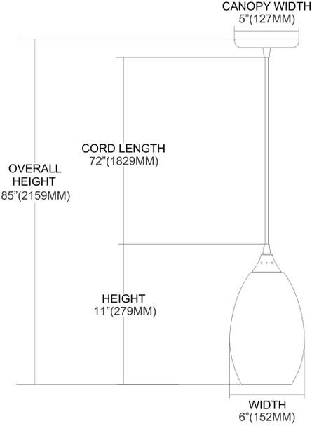 ELK Lighting Mulinello 1-Light Mini Pendant - 517-1C