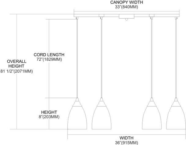 ELK Lighting Pierra 6-Light Pendant - 527-6CY