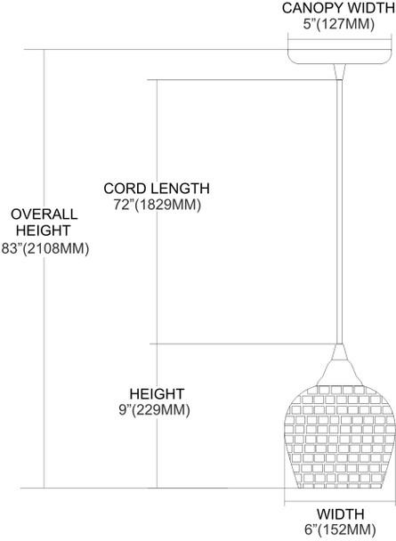 ELK Lighting Fusion 1-Light Mini Pendant - 528-1MLT