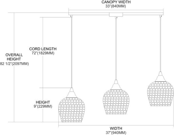 ELK Lighting Fusion 3-Light Mini Pendant - 528-3L-GLD