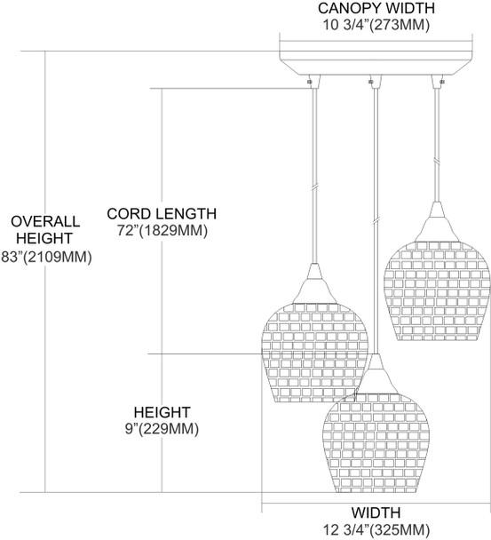 ELK Lighting Fusion 3-Light Mini Pendant - 528-3WHT
