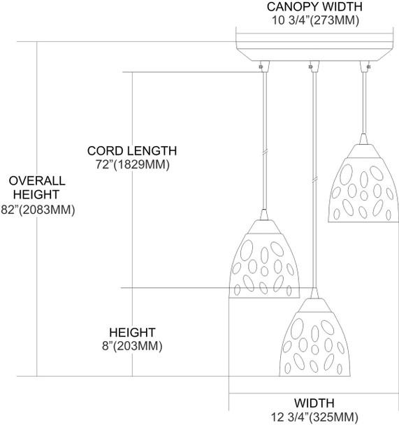 ELK Lighting Gemstone 3-Light Mini Pendant - 542-3