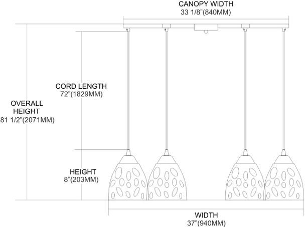 ELK Lighting Gemstone 6-Light Pendant - 542-6