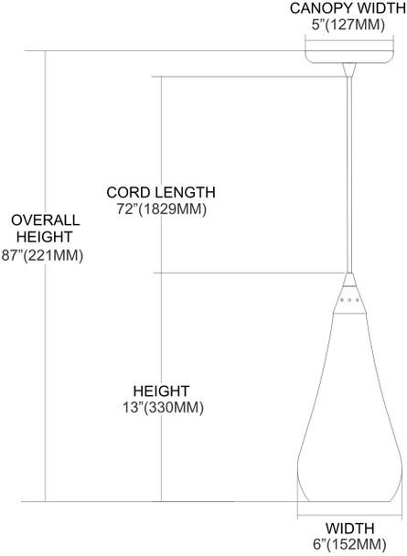 ELK Lighting Curvalo 1-Light Mini Pendant - 546-1SLVM-CRC