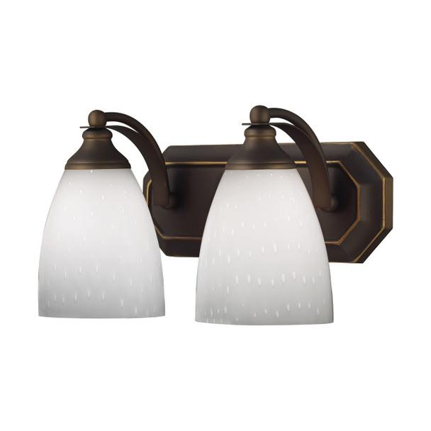 ELK Lighting Bath And Spa 2-Light Vanity Light - 570-2B-WH