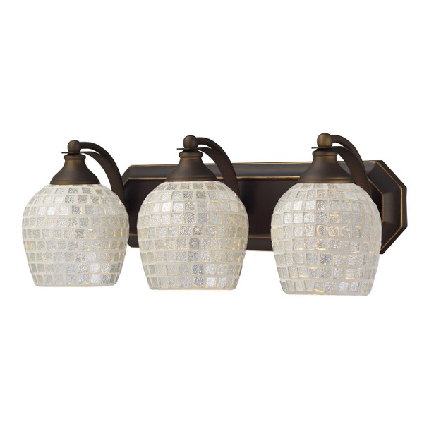 ELK Lighting Bath And Spa 3-Light Vanity Light - 570-3B-SLV