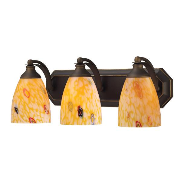 ELK Lighting Bath And Spa 3-Light Vanity Light - 570-3B-YW