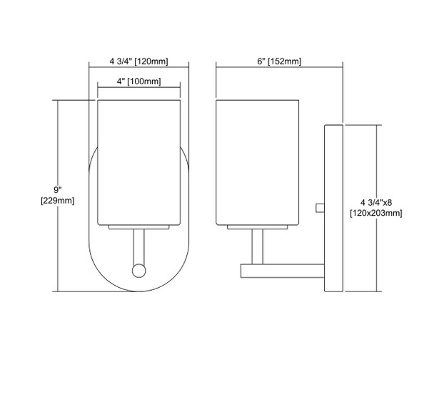 ELK Lighting Pemlico 1-Light Vanity Light - 57140/1