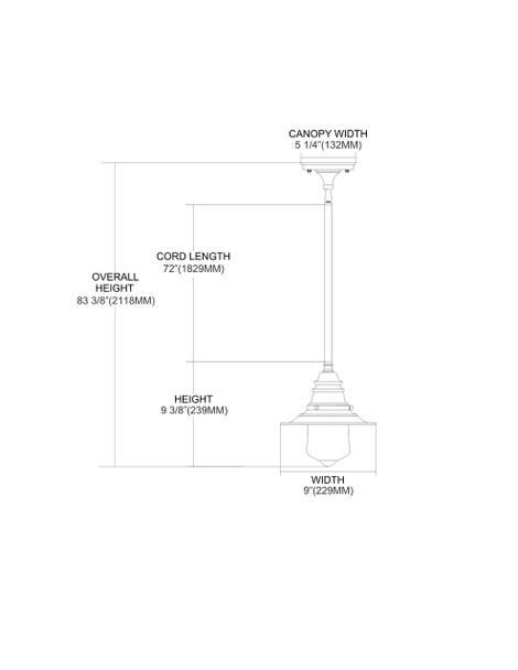 ELK Lighting  1-Light Mini Pendant - 66807-1