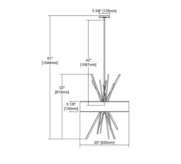 ELK Lighting Xenia 5-Light Chandelier - 66973/5