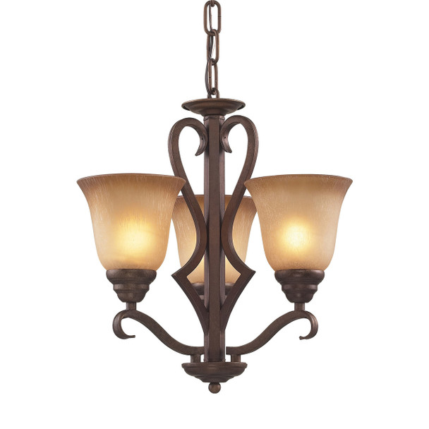 ELK Lighting Lawrenceville 3-Light Chandelier - 9326/3