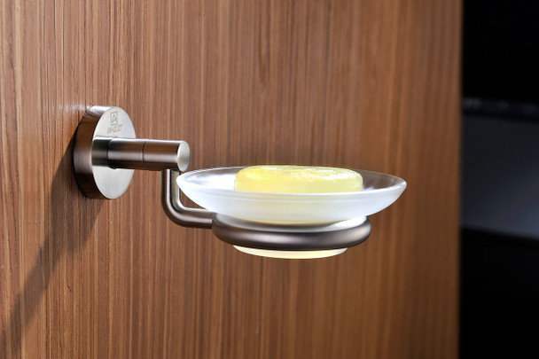 ANZZI Caster Series Soap Dish In Brushed Nickel - AC-AZ000BN
