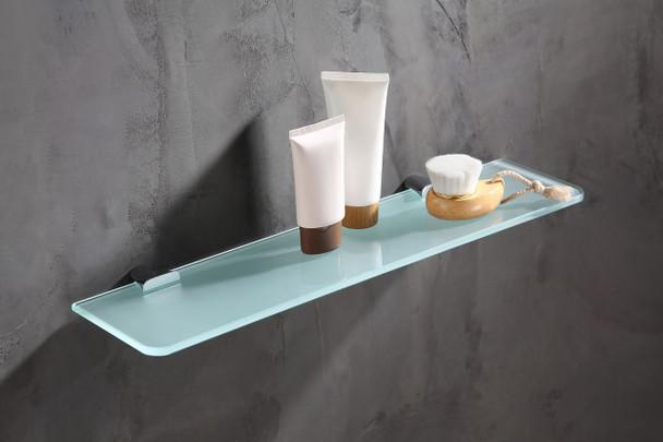 ANZZI Essence Series Glass Shelf In Polished Chrome - AC-AZ050