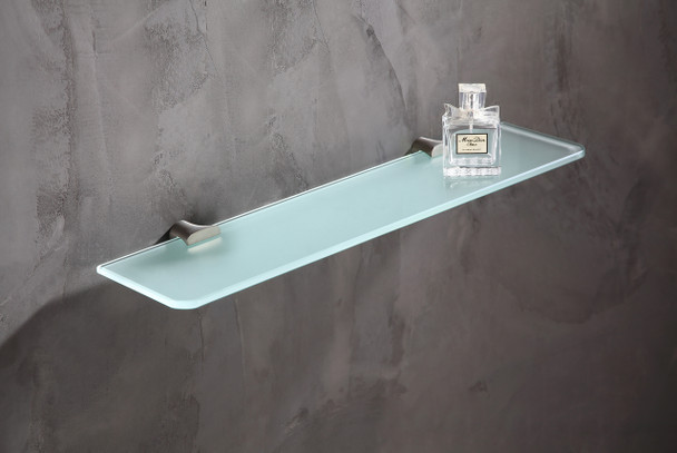ANZZI Essence Series Glass Shelf In Brushed Nickel - AC-AZ050BN