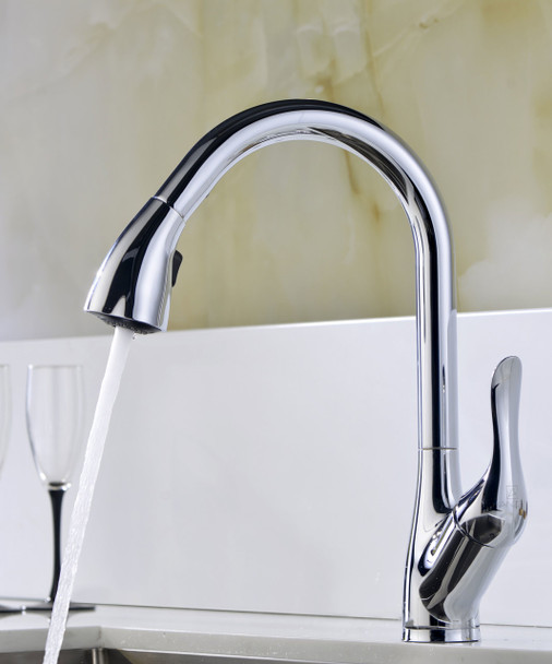 ANZZI Elysian Farmhouse 32 In. Kitchen Sink With Accent Faucet In Polished Chrome - K33201A-031