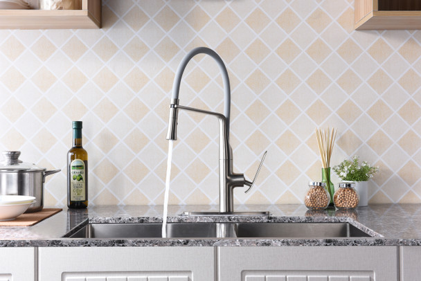 ANZZI Accent Single Handle Pull-down Sprayer Kitchen Faucet In Brushed Nickel - KF-AZ003BN
