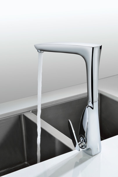 ANZZI Timbre Series Single-handle Standard Kitchen Faucet In Polished Chrome - KF-AZ034