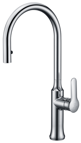 ANZZI Cresent Single Handle Pull-down Sprayer Kitchen Faucet In Polished Chrome - KF-AZ1068CH