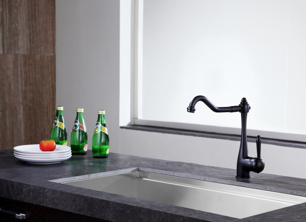 ANZZI Single Handle Kitchen Faucet-oil Rubbed Bronze-patriarch Series-kf-az198orb-anzzi - KF-AZ198ORB