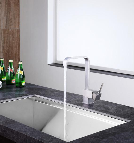 ANZZI Sabre Single-handle Standard Kitchen Faucet In Brushed Nickel - KF-AZ220BN