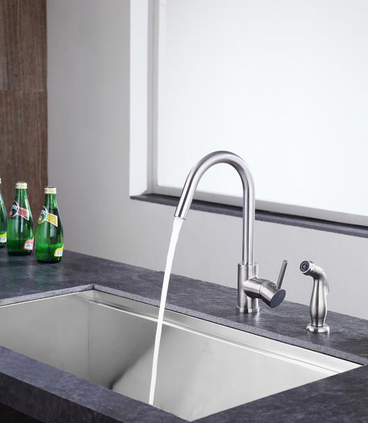 ANZZI Farnese Single-handle Standard Kitchen Faucet In Brushed Nickel - KF-AZ222BN