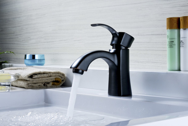 ANZZI Alto Series Single Hole Single-handle Mid-arc Bathroom Faucet In Oil Rubbed Bronze - L-AZ012ORB