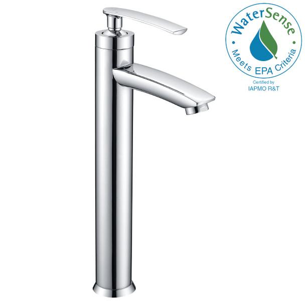 ANZZI Fifth Single Hole Single-handle Bathroom Faucet In Polished Chrome - L-AZ073