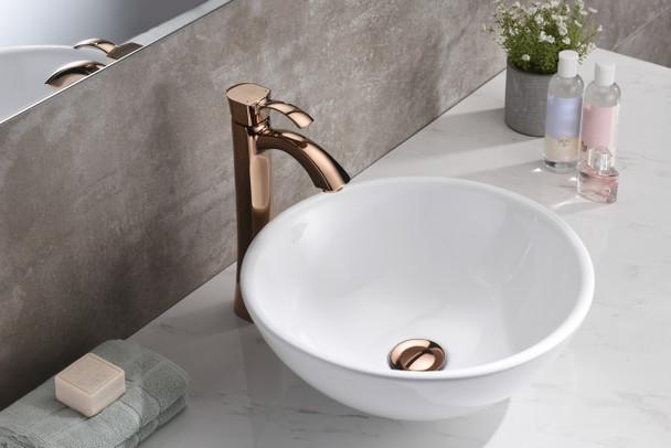 ANZZI Deux Series Ceramic Vessel Sink In White - LS-AZ118
