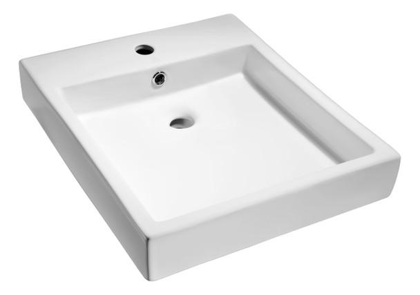 ANZZI Deux Series Ceramic Vessel Sink In White - LS-AZ124