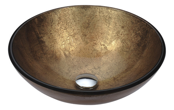 ANZZI Posh Series Deco-glass Vessel Sink In Celestial Earth - LS-AZ293