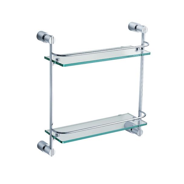 Fresca Magnifico 2 Tier Glass Shelf - Chrome - FAC0146