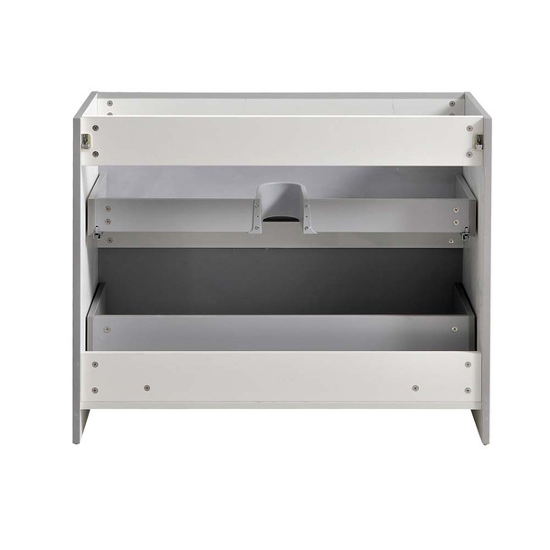 "Fresca Tuscany 40"" Glossy Gray Free Standing Modern Bathroom Cabinet - FCB9140GRG"