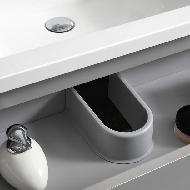 "Fresca Lazzaro 30"" Gray Free Standing Modern Bathroom Cabinet W/ Integrated Sink - FCB9330GR-I"