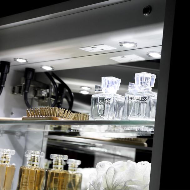 "Fresca Tiempo 24"" Wide X 30"" Tall Bathroom Medicine Cabinet W/ Led Lighting & Defogger - FMC012430-L"